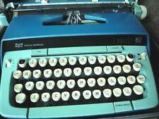 Vintage Smith Corona Atomic-Blue Galaxie Twelve XII Manual Typewriter Case