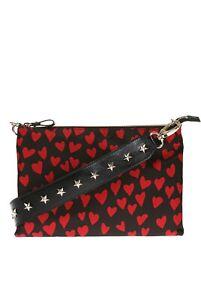RED Valentino Heart Printed Shoulder Bag / Black/Red