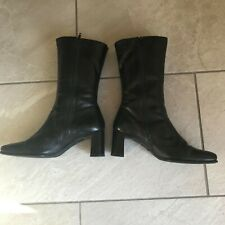ECCO CITY  Ladies Leather Boots, Calf Length Size UK 6