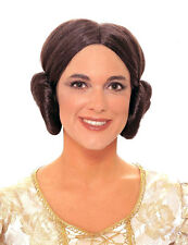 Star Wars Princess Leia Wig Costume Hair Buns Ear Muffs Muff Liea Lea FULL WIG