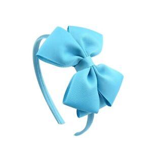 Hair Band For Baby Girls Handmade Light Blue Cute Bowknot Ribbon Hair Bows