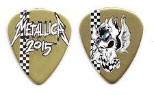 Metallica James Hetfield Gold Racing Stripe Vulturus Guitar Pick - 2015 Tour