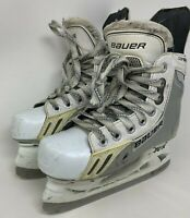 Bauer Supreme One.6 LE Limited Edition White Silver Junior Ice Skates Size 1.5 D