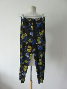 PLEATS PLEASE ISSEY MIYAKE floral pattern elastic waist cropped pants 1
