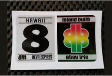 Faux- Hawaii Safety Check Sticker- surf