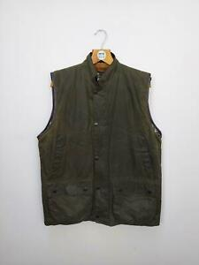 BARBOUR Westmorland Waxed Vest with Rare Pile Liner- Large - Olive
