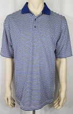 Ping blue white striped short sleeve casual golf polo shirt mens XL X-Large