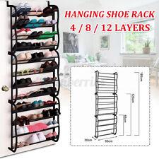 4/8/12 Tier Over The Door Hanging Shoe Rack Organiser Stand Shelf Holder