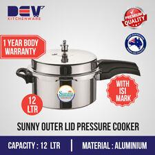 12 Ltrs Big Sunny Outer Lid 12 Liters Aluminium Pressure Cooker 12 L