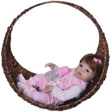 "23"" Reborn Full Body Silicone Girl Baby Doll Relistic Newborn Dolls Babies GIFT"