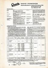 Service Manual-Istruzioni Graetz GATTINI 922, Belcanto 9922, Maharani F 391,393