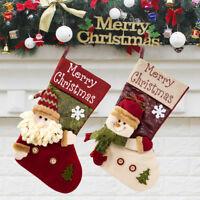 Sac de rangement Noël Mini Sac Père Bonbons Sac Arbre Noël suspendus Décor PS