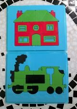 Vintage shaped Jigsaw tray Puzzles - Train and House