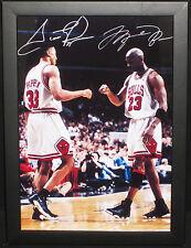 Michael Jordan/Scotty Pippen Autographed Picture Frame 33cm H x 24cm W -NEW