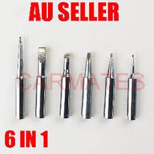 6 PCs Tips Solder Soldering Iron Rework Station FOR hakko T18 FX888 FX8801 958