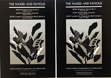 2 X THE NAKED AND FAMOUS TOUR FLYER CARDS - IN ROLLING WAVES TOUR