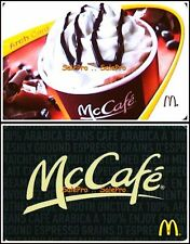 2x McDONALD 2012 2013 McCAFE COFFEE VARIATION ARCH M COLLECTIBLE GIFT CARD LOT