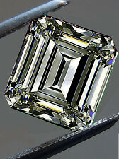 2.01ct Vvs1/6.88mm Gray Brown Color Loose Emerald Real Moissanite ring/ pendant