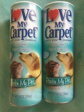 (2) Love My Carpet, Carpet & Room Deodorizer Vacuum ☆PARDON My PET☆ Powder