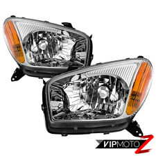 [Factory Style] 2001-2003 Toyota RAV4 Chrome Reflector Headlights SET Pair Lamps