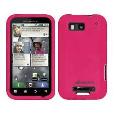 AMZER Silicone Soft Skin Jelly Case Cover for Motorola DEFY MB525 - Hot Pink