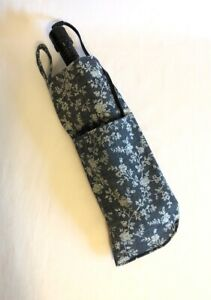 New Heat Resistant Curling Iron Flat Iron Holder Navy Chambray Curling Iron Bag