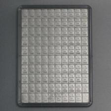 100x1 gr. Silberbarren Valcambi