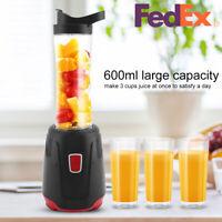 600ml Plug 110v Electric Juicer Machine Portable Fruit Citrus Vegetable Blender