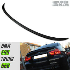 ABS PAINTED #668 Black For BMW E90 Sedan m Type Rear Trunk Spoiler 325xi