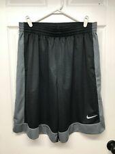 Nike #641421 Men's Long Fastbreak Basketball Shorts: XL, Black/Gray, Drawstring