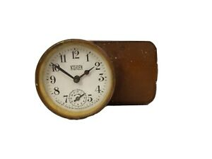 Antique New Haven Junior Tattoo Alarm Clock Timeulator # 1148 Hook Release Case