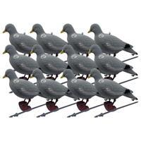 Bushwear Paquet de 12 Floqué Leurre Pigeon (Tête dessus)