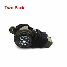 3-1 Whistle Thermometer Compass Emergency Survival Camping Safety fishing lures