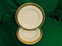 I2 - Thun Fine China Czech Republic Haviland Gold Rim Dinner Plates Lot of 3