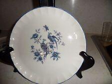 Set of 3 Vintage W.S. George Dinner Plates Exotic Blue Birds Design