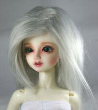 """16~17cm 6~7/"""" 1//6 BJD DOLL MSD Fur Wig Dollfie Grey M23"""
