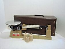 Vintage OHAUS Triple Beam Balance Scale with 3 Weights and Carrying Case