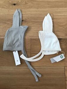 Joblot Grey And White Bunny Baby Hat Organic Cotton - varied sizes (49pcs)