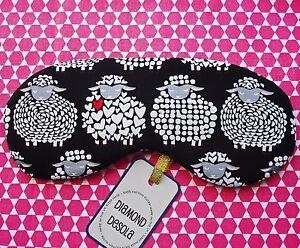 Eye Sleep Mask Sheep Soft Cotton Travel Blackout Blindfold Relax UK Animal Gift