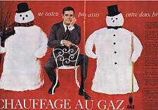 PUBLICITE ADVERTISING 094 1957 GAZ DE FRANCE chauffage au gaz (2 pages)