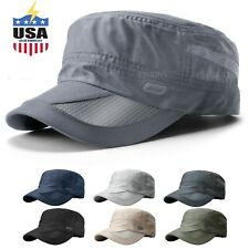 Men's Classic Army Summer Military Cap Hat Cadet Patrol Style Brim Spring Summer
