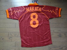 AS Roma #8 Nakata 100% Original Jersey Shirt S 1999/2000 BNWT Japan Soccer Rare