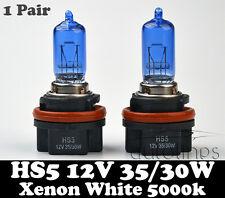 2x HS5 35/30W P23T 12V Xenon White 5000K Motorcycle Bike Headlight Bulbs Globes