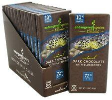 Endangered Species - Dark Chocolate Bar 72% Cocoa Blueberries - 3 oz.