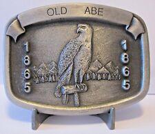 J I Case Corporation OLD ABE 1865 Bald Eagle Trademark Logo Pewter Belt Buckle