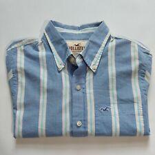 Hollister Men's Blue Stripe Button-down Shirt Size XL Long Sleeve Pocket