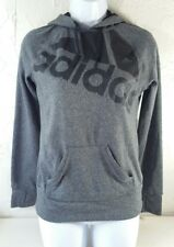 ADIDAS Go-To Hoodie Womens Size XS Pullover Long Sleeves Gray Thumb Holes L30