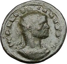 Aurelian  270AD Authentic Ancient Roman Coin Sol with globe Sun God Cult  i41232