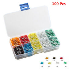 100pc Assorted Auto Car Mini Low Profile Fuse Box 5 7.5 10 15 20 25 30 Amp Sales