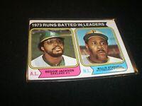 1974 TOPPS BASEBALL REGGIE JACKSON OAKLAND ATHLETICS A'S CARD #470 G302
